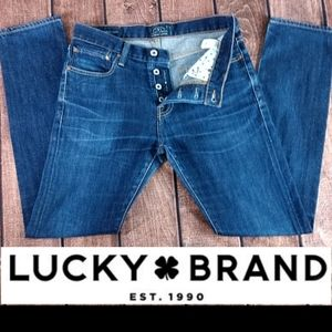 32x31 Lucky Brand Authentic Skinny Button